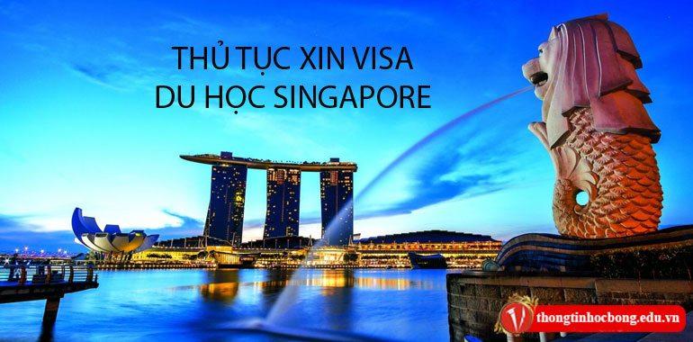 thủ tục xin visa du học singapore