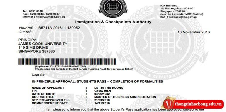 visa du học tại Singapore